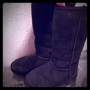 UGG Boots Black Tall size 2 Girls